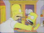 Bart being strangled.