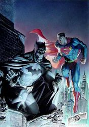 Batman and Superman; World's Finest. Art by Jim Lee and Alex Ross.