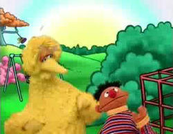 Big Bird finds Ernie in a game of Journey to Ernie.
