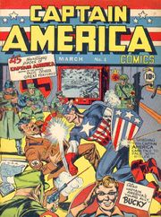 Captain America Comics #1 (March 1941), art by Jack Kirby (pencils) & Joe Simon (inks).