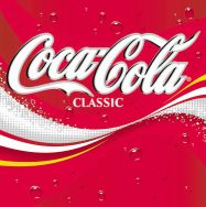The current official logo for Coca-Cola Classic.