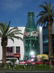 The Las Vegas World of Coca-Cola museum in 2000