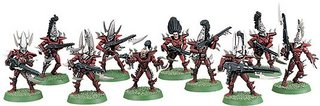 A squad of Dark Eldar Warriors