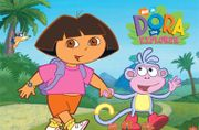 Dora the Explorer (left) and Boots are the series' protagonists.