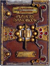 The Player's Handbook for D&D version 3.5, one of the game's three core rulebooks