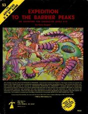 S3: Expedition to the Barrier Peaks was one of the few adventures released by TSR to include science-fiction elements, such as ray guns and robots.