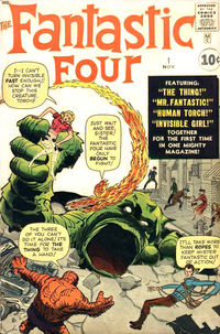 The Fantastic Four #1 (Nov. 1961). Cover art by Jack Kirby (penciller) and Dick Ayers (inker; unconfirmed).
