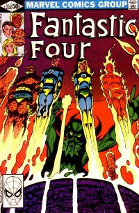 "John Byrne gets  ""Back to the Basics"" in FF #232, his debut as writer-artist. Cover inks: Terry Austin."