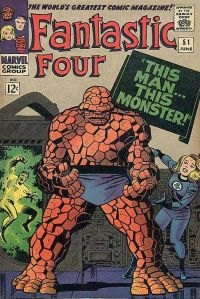 "FF #51 (June 1966): ""This Man... This Monster!"" — considered one of comics' greatest stories.4 Cover art by Kirby & Sinnott."