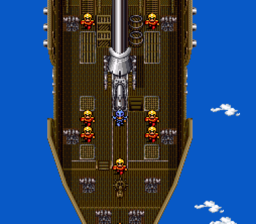 Airships have appeared in almost every Final Fantasy game (Final Fantasy IV shown).