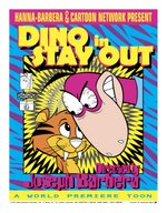 Poster to the 1995 Joseph Barbera-directed Dino cartoon Stay Out