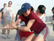 Tug of war is an easily organized, impromptu game that requires little equipment.