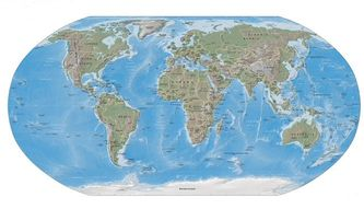 Map of the Earth (Medium) (Large 2 MB)