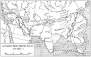 A Russian Map of the journeys of Marco Polo.