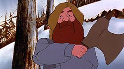 Gimli, from the 1978 cartoon adaptation of The Lord of the Rings.