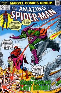 The Green Goblin kills Gwen Stacy.  Cover to Amazing Spider-Man (vol. 1) #122.  Art by John Romita, Sr..