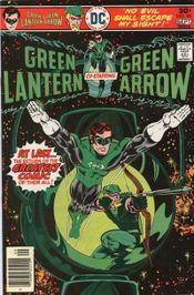 Hero and hyperbole: Green Lantern #90 (Sept. 1976). Cover art by Mike Grell.