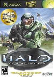 The box art for Halo: Combat Evolved.