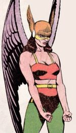 Shiera Sanders as Hawkgirl. Art by Steve Rude.