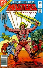 He-Man as seen in a DC comic from December, 1982, one of his earliest appearances and preceding the debut of his animated series.