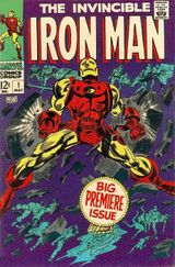 Iron Man Vol. 1, #1 (May 1968). Cover art by Gene Colan & Frank Giacoia.