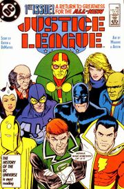 Cover to Justice League #1. Art by Kevin Maguire.