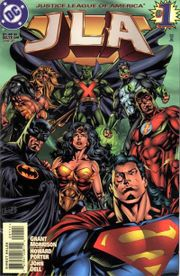 The JLA. Art by Howard Porter.