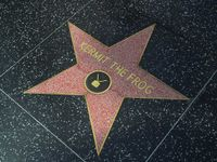 Kermit has a TV star on the Hollywood Walk of Fame located at 6801 Hollywood Blvd.