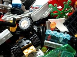 There are many types of Lego bricks and pieces.