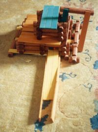 A sawmill made from Lincoln Logs.