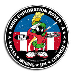 Marvin the Martian Mars Exploration Rover Mission patch