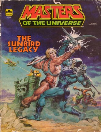 Clash of the titans: He-Man and Skeletor face off on the cover of a vintage MOTU graphic novel.
