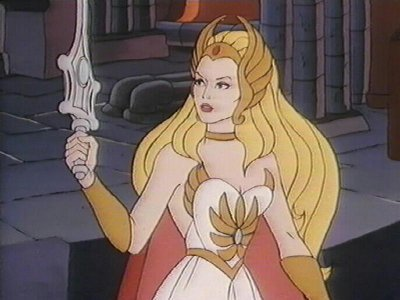 She-Ra, as she appeared in her own Filmation animated series.