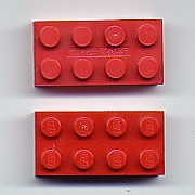 Mega Bloks building blocks (above) are compatible with Lego interlocking building blocks.(below)