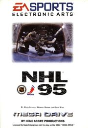 NHL 95 cover for the Sega Mega Drive.