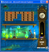 """Korbat's Lab,"" one of many Neopets games"