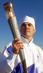 For months before the Olympic Games, runners relay the Olympic Flame from Olympia to the opening ceremony.