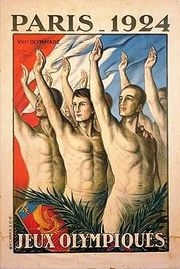 Poster for the Paris 1924 Summer Olympic Games.