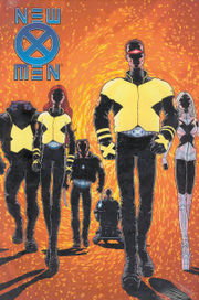 Cover of New X-Men Issue 114, which kicked off Grant Morrison's run on the book. Pencils by Frank Quitely.