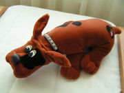 The hip red pound puppy with studded collar