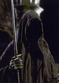 One of the Nazgûl portrayed in The Lord of the Rings film trilogy