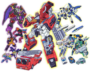 The Autobots (Cybertrons) and the Predacons (Destrongers).