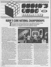 Ideal Toys published the Rubik's Cube Newsletter from 1982 to 1983.