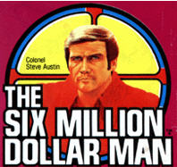 The Six Million Dollar Man logo used for various merchandise