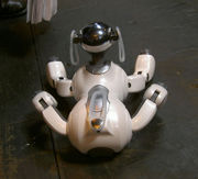 The AIBO ERS-7 resembles a small dog