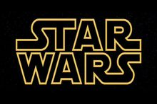 Opening logo to the Star Wars films.