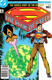 Cover to The Man of Steel #1 (July 1986). Art by John Byrne.
