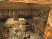 Lara with her pistols drawn in St. Francis' Folly.
