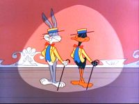 Bugs Bunny and Daffy Duck.