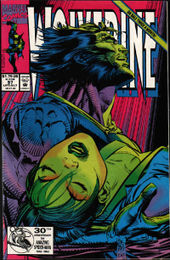 Wolverine #57 (mid-July 1992): Mariko's death. Art by Marc Silvestri & Dan Green.